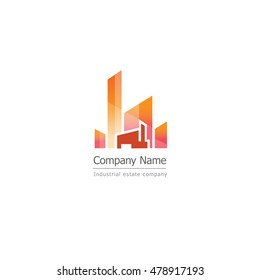 Industrial Estate and property logo design. Corporate branding identity.