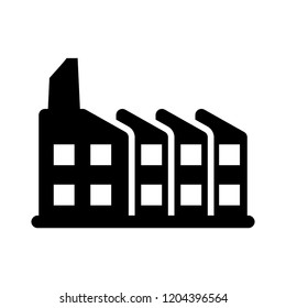 industrial icon - vector industry sign symbol. industrial illustration isolated, silhouette refinery