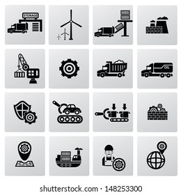 Industrial icons icons,vector