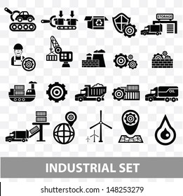 Industrial icons,Blank background version,vector