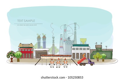 Industrial illustration HAPPY WORLD COLLECTION