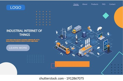 Industrial internet of things 4ir revolution, AI, IoT. Computerized data storage and protection management. Robot engineer controls equipment using digital devices, modern industrial technologies - Shutterstock ID 1912867075