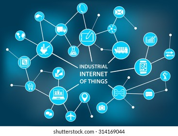 Industrial internet of things / industry 4.0 concept as vector illustration