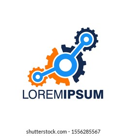 Industrial Logo Design Vector Template