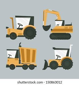 industrial machines, vector