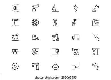 Industrial Processes Line Vector Icons 4