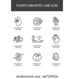 Industrial Revolution Line Icon