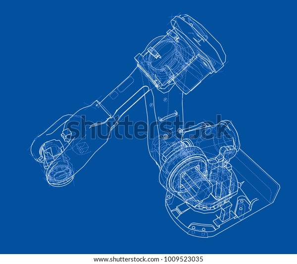 Industrial Robot Manipulator Robot Arm Vector Stock Vector (Royalty