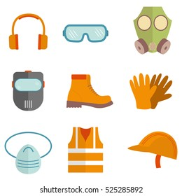 Industrial safety equipment design vector illustration design