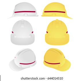 Industrial safety helmet, icon photo for work, labor protection and accident prevention
