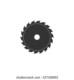 Industrial saw icon flat. Illustration isolated vector sign symbol
