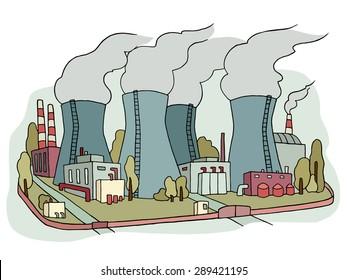 Cartoon Power Plant Images Stock Photos Vectors Shutterstock