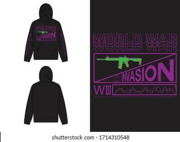 industrial streetwear hoodie world war
