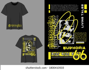 Industrial Streetwear T-Shirt EUPHORIA Living Tales Industrial Design