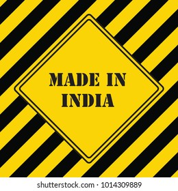 The industrial symbol is made in India
