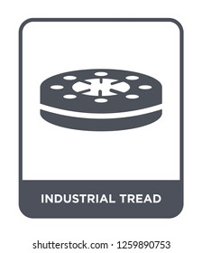 industrial tread icon vector on white background, industrial tread trendy filled icons from Industry collection, industrial tread simple element illustration