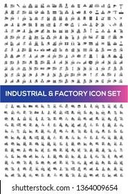 Industrial vector icon set