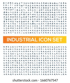 Industrial vector icon set design