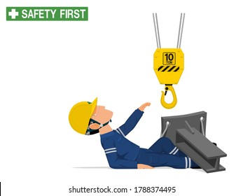 An industrial worker was injured by the crane