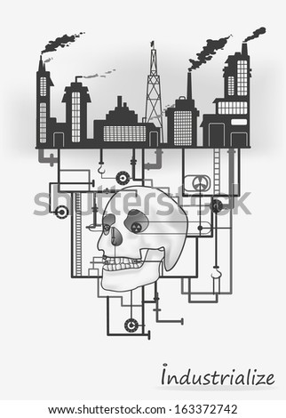 Industrial World Vector Illustration Stock Vector Royalty Free