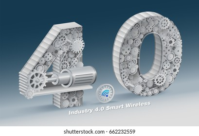 "The ""Industry 4.0"" character set is used as an illustration for typical industrial businesses.  vector realistic file."