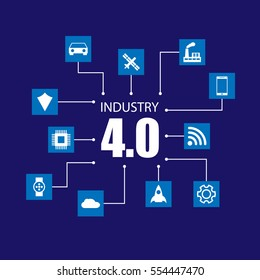 Industry 4.0 and internet of things illustration