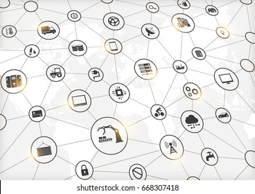 Industry 4.0, Internet of things (IoT) and networking, network connections