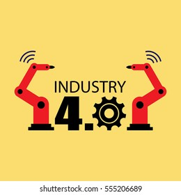 Industry 4.0 vector illustration