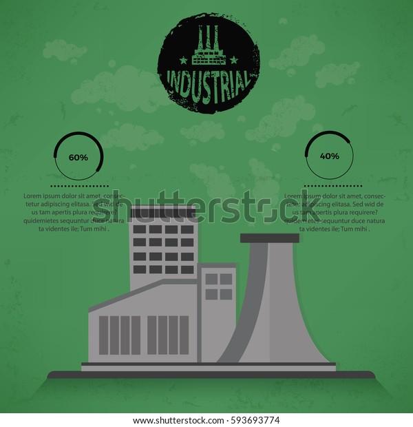 Industry concept design,vector