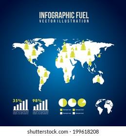 Industry design over blue background, vector illustration