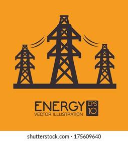 industry design over  orange  background vector illustration