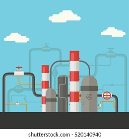Industry factory Flat style vector illustration design