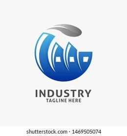 Industry factory logo design inspiration