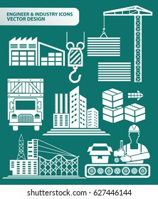 Industry icon set,clean vector