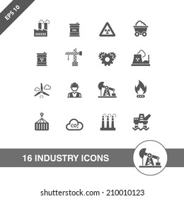 Industry icons set.