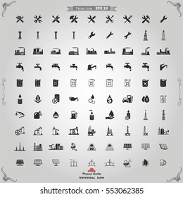 Industry icons vector set