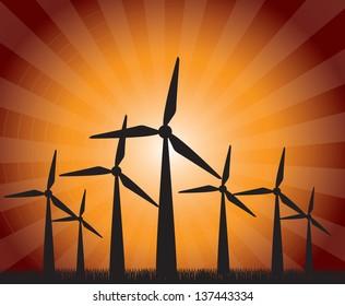 Industry label over orange background vector illustration