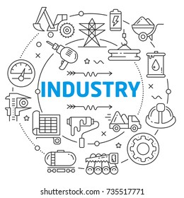 Industry Linear illustration