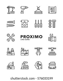 Industry Modern Futuristic Line Vector Icons