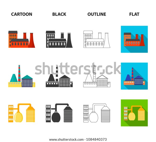 Industry, production.Factory set collection icons in cartoon,black,outline,flat style vector symbol stock illustration web.