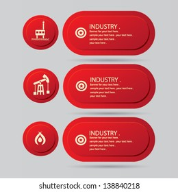 Industry sign & blank banner for text,vector