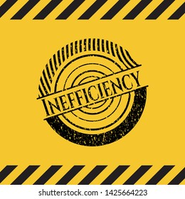 Inefficiency grunge warning sign emblem. Vector Illustration. Detailed.