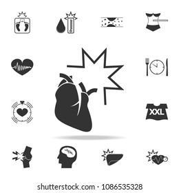 infarction  icon. Detailed set of obesity icons. Premium graphic design. One of the collection icons for websites, web design, mobile app on white background