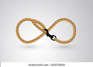 Infinite dog leash