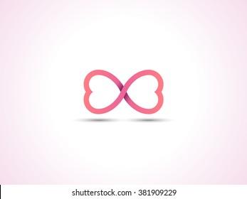 infinite love symbol. endless symbol.