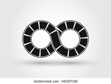 Infinite strip of film. Conceptual logo