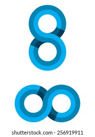 Infinite vector illustration, can represent the symbol of infinity, the letter S, the number 8 ideal for companies, brands, business, logos, etc.