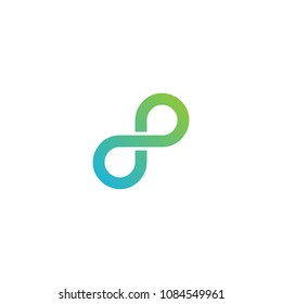 infinity 8 logo template vector editable