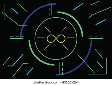 Infinity abstract vector illustration contain EPS10 format , design Layout