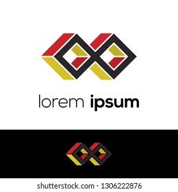 Infinity Abstract Vector Logo Design Template. Creative icon concept